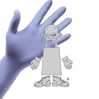 Gloves – 4 MIL Powder Free Blue Nitrile