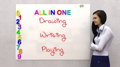 Magnetic Dry Erase  White Board