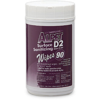 D2 Surface Sanitizing Heavy Duty Wipes, 90 Wipes