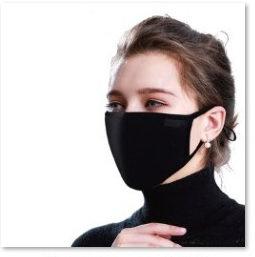 Black Cotton Masks-5 pack