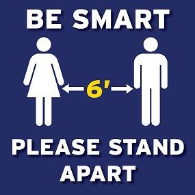 Be Smart Floor Graphic