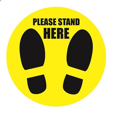 Stand Here Floor Graphic