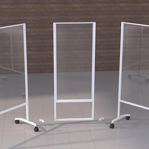 Add On Corner- Rolling Acrylic Barrier