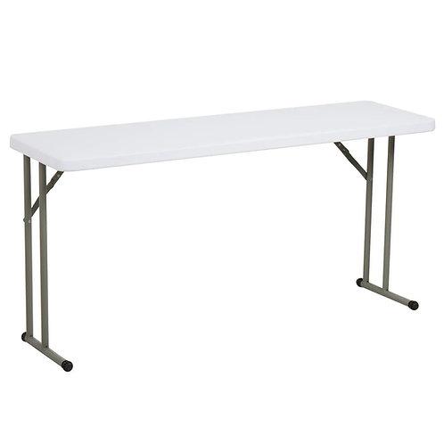 "Outdoor Classroom-18"" x 60"" heavy-duty plastic folding table"