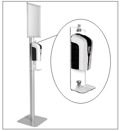 Sanitizer with Stand/kit