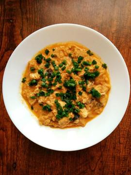 Curry z indykiem, cukinią i bakłażanem