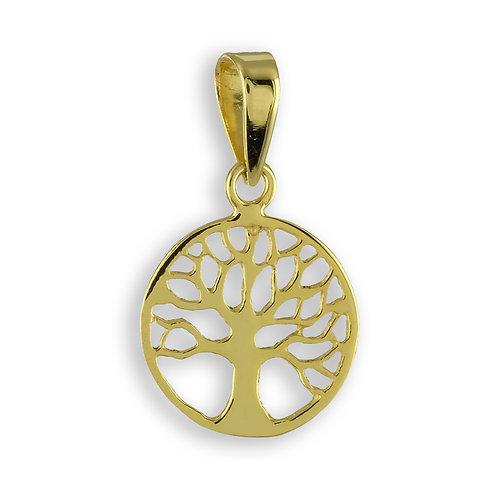 Anhänger Lebensbaum Echt Gold 333/000 + 8mm Muttermilchperle