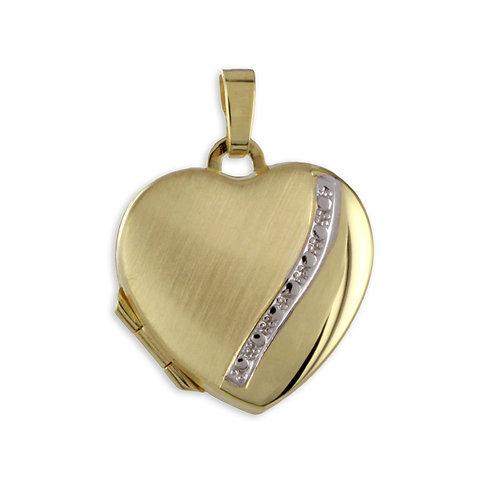 Medaillon Herz Bicolor - Gold 333/000