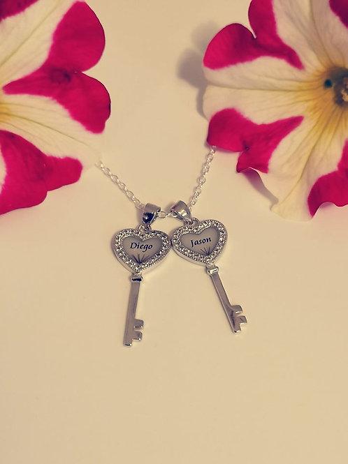 925er Sterling Silber Schlüssel