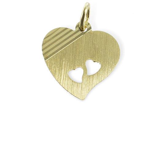Herz diamantiert - Gold 333/000