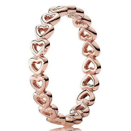 """925er Sterling Silber Ring """"heart"""""""