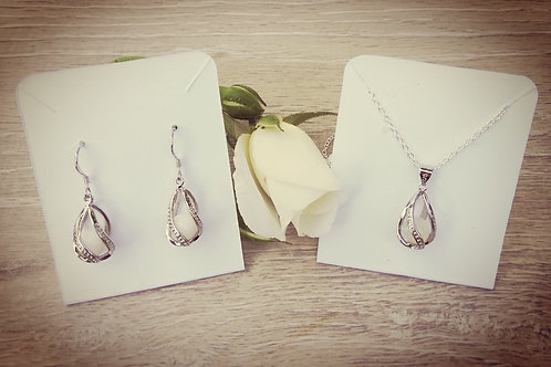 """Pearls of Heart"" Set 925er Sterling Silber"