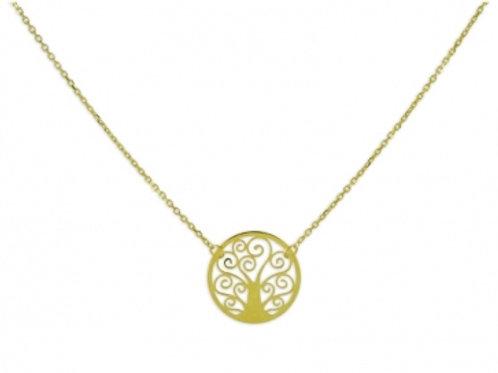 Collier mit Lebensbaum Echt Gold 333/000