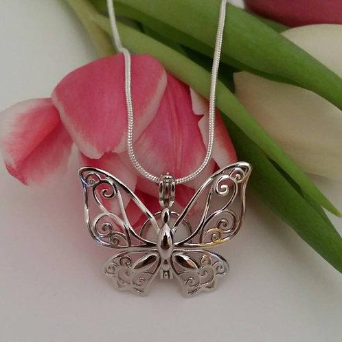 925er Sterling Silber  Schmetterlingkäfig