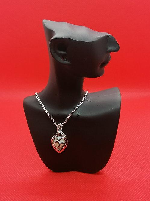 Perlenkäfig Mutter/Kind 925er Silber