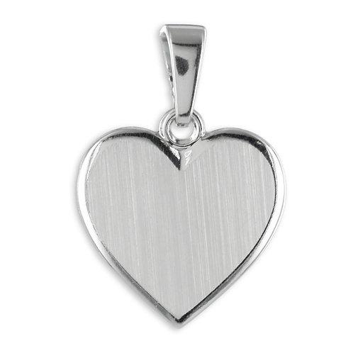 Gravurplatte Herz Echt Silber 925/000