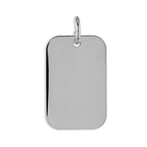 Anhänger Gravurplatte Echt Silber 925/000