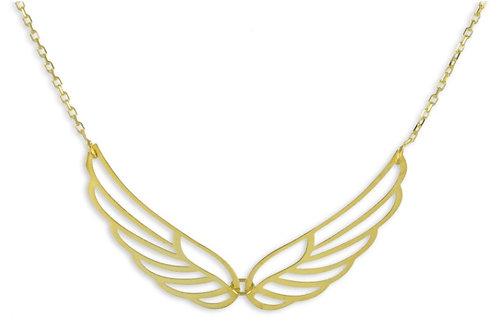 Collier Flügel 42/45cm Echt Gold 333/000