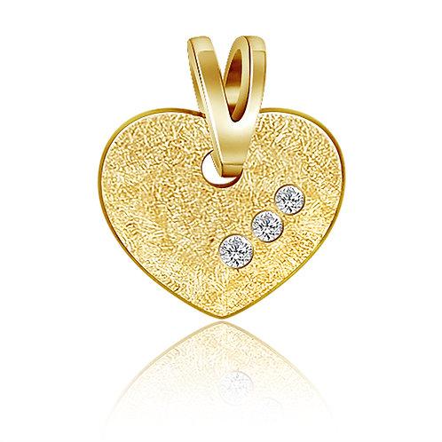 Anhänger Herz mit Brillant 0,03 ct. W/SI Gold 585