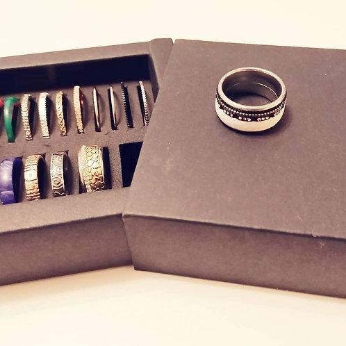 "Edelstahl Ring ""Aurora"""