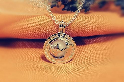 "Perlenkäfig ""moon"" 925er Silber"