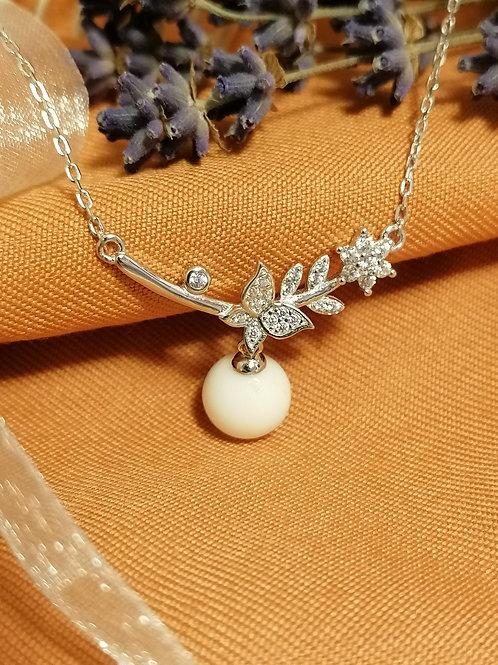 "925er Sterling Silberkette ""flower"""