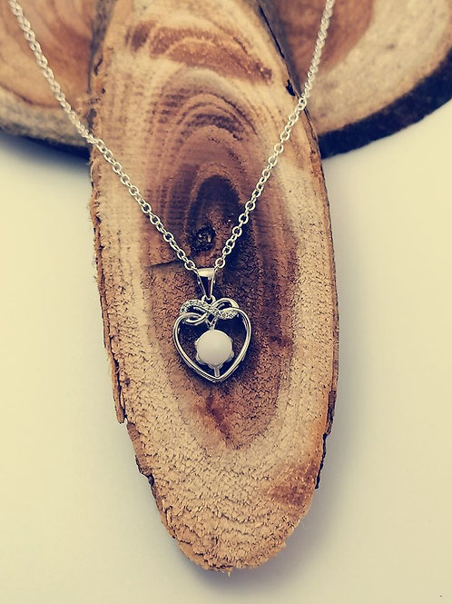 925er Sterling Silber Infinity Herz