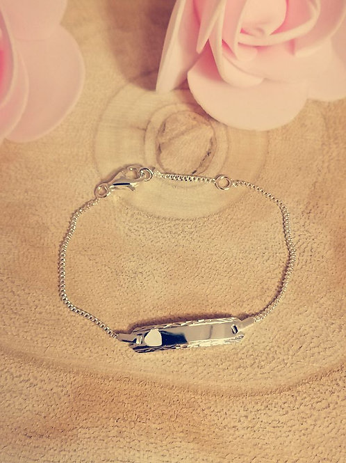 Baby/Kinder-Schildarmband - Silber 925/000