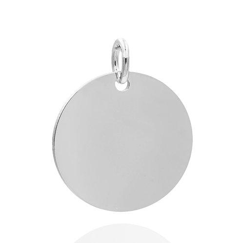 Gravurplatte rund 16mm Silber 925/000