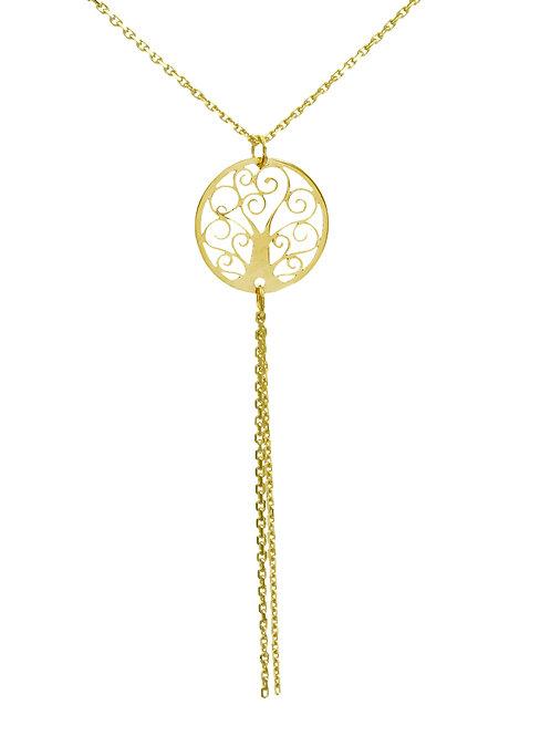 Collier mit Lebensbaum Gold 333/000 + 8mm Muttermilchperle