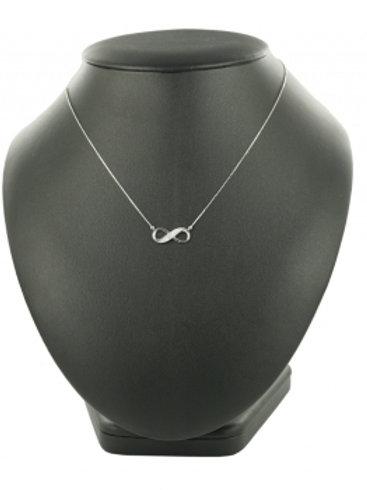 Collier Infinity mit Brillant 0,10 ct. W/SI Weißgold 585/-