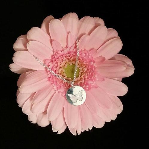 Collier mit Anhänger Schmetterling Echt Silber 925/000