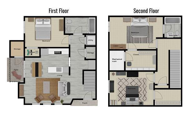 Cascade color floor plan