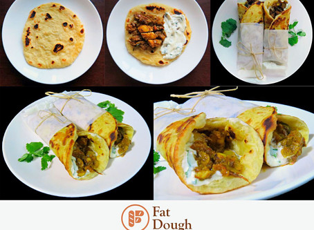 Tamil Black Pepper Chicken Curry Paratha Wrap