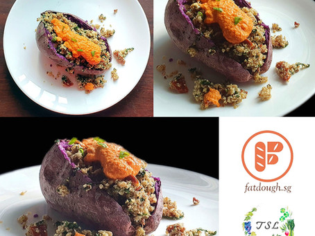 Couscous Sweet Potato Boats - In Partnership with The Simpler Living