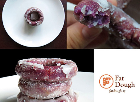 Kuih Keria | Purple Sweet Potato Donuts
