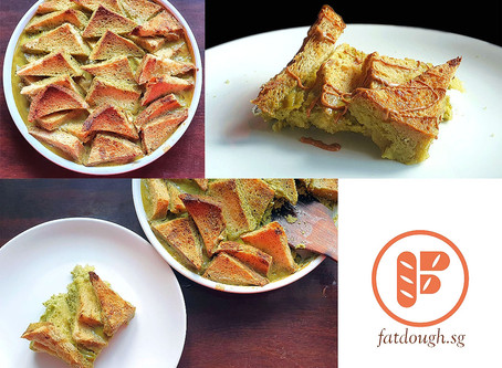 Matcha Bread & Butter Pudding