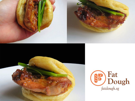 Adobo Chicken Bao Burger