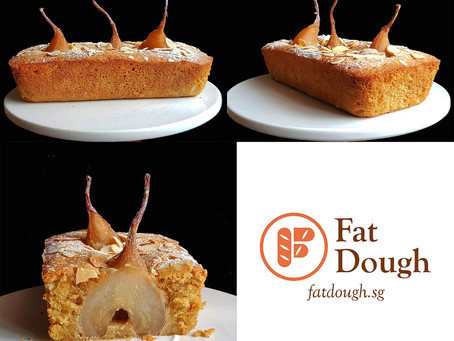 Poached Pears Almond Cake