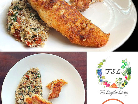 Almond Crusted Dory - In Partnership with The Simpler Living