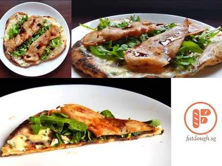 My Grilled Pizza: The Arugula-Chicken-Bacon - Sponsored By Alce Nero