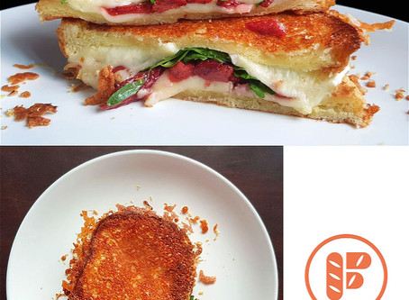 Slow Roasted Strawberries Grilled Cheese Sandwich