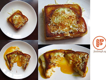 Grilled Cheese Eggsplosion Sandwich