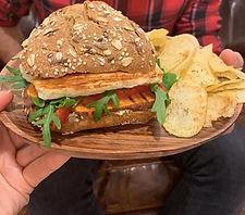 Hamburger de Halloumi · Halloumi Burger | Ementa · Menu | Chasing Rabbits Record Store
