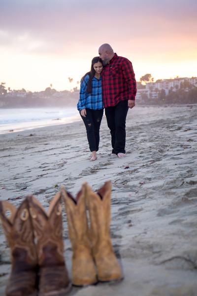 Mike and Janae at the Santa Barbara Harbor