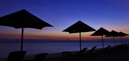 グリーン島 夕方のビーチ
