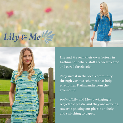 Lily & Me Sustainability Commitments
