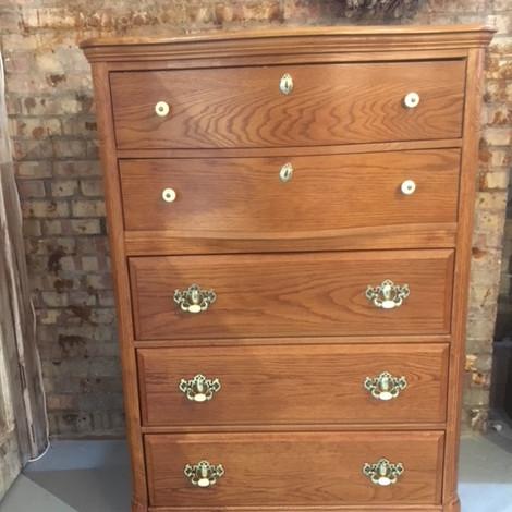 5 drawer barrel top dresser