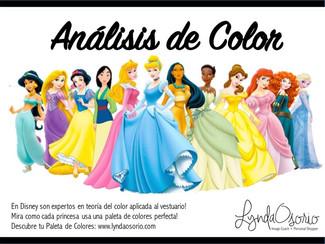 Las Disney Princesas y el color de sus vestidos...