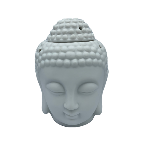 Thai Buddha Head - White with wax pack